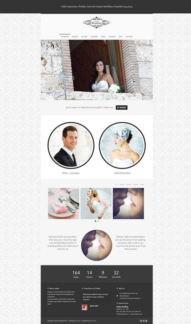 unique-wedding-responsive-template