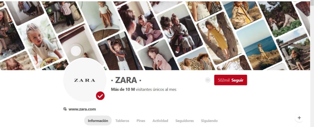 Pinterest oficial de Zara